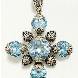 John Hardy Sterling Silver Blue Topaz Pendant